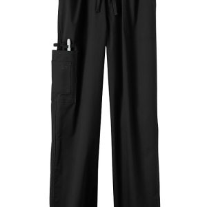 Black Stretch unisex scrub pants