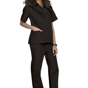 Black Two piece unisex uniforms scrub set