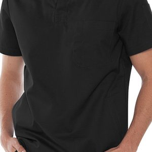 Mens v-neck black scrub top