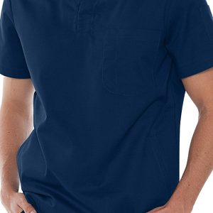 Mens v-neck blue scrub top