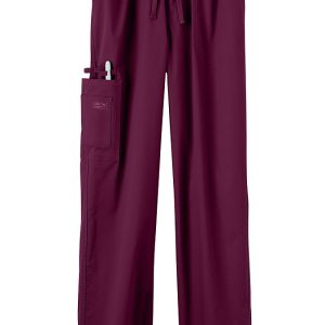 Burgundy Stretch unisex scrub pants