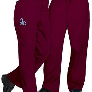 Unisex drawstring burgundy pants
