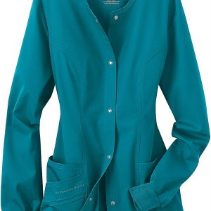 Women Green Stretch scrub jacket
