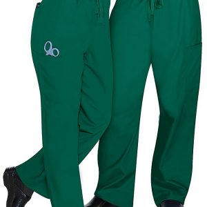 Unisex drawstring green pants