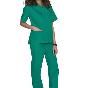Green Two piece unisex uniforms scrub set