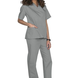 Grey Two piece unisex uniforms scrub set