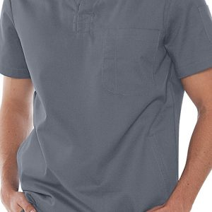 Mens v-neck gray scrub top