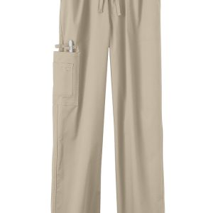 Khaki Stretch unisex scrub pants