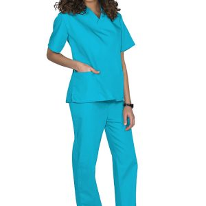 Light Blue Two piece unisex uniforms scrub set
