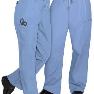 Unisex drawstring light blue pants