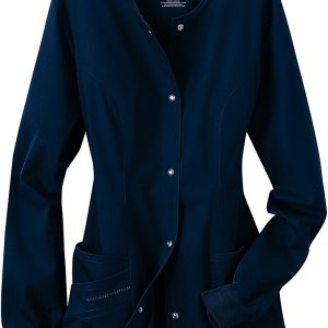 Women Seal Blue Stretch scrub jacket