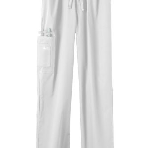 White Stretch unisex scrub pants