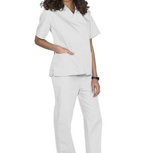 White Two piece unisex uniforms scrub set